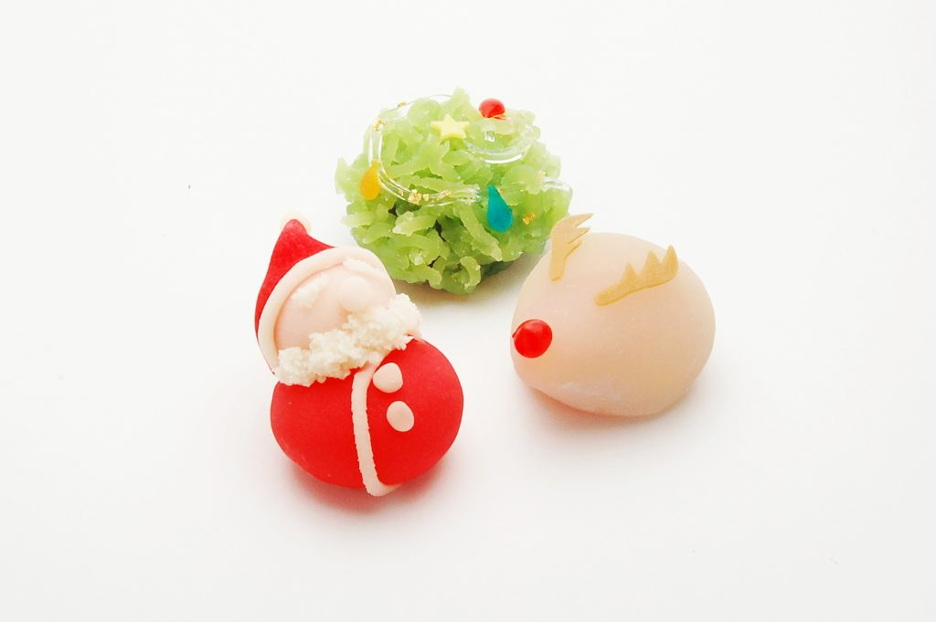 クリスマス 上生 サンタ トナカイ クリスマスツリー 川越 和菓子 手作り 職人
